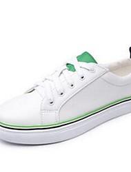 Homme-Décontracté-Vert / Rouge / BlancConfort-Sneakers-Cuir