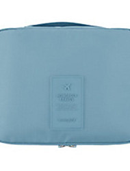Makeup Storage Cosmetic Bag / Makeup Storage Nylon Solid 21*13*5 Blue