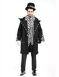 Magician Festival/Holiday Costumes Top / Pants / Coat / Gloves / Hats Male Polyester
