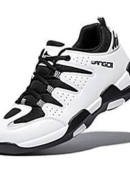 Femme-Décontracté-Bleu / Noir et rouge / Noir et blanc-Talon Plat-Confort-Sneakers-Microfibre