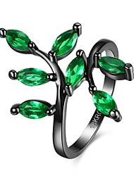 Ringe Hochzeit / Party / Alltag / Normal Schmuck Krystall / Kupfer / Glas Damen Ring / Verlobungsring 1 Stück,6 / 7 / 8 Blau / Lila