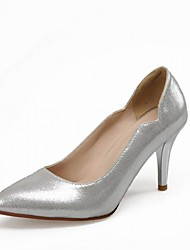 Women's Heels Spring Fall Leatherette Office & Career Casual Dress Stiletto Heel Gold Sliver Red Blue