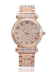 Women's Fashion Watch Bracelet Watch Casual Watch Quartz Water Resistant / Water Proof Rhinestone Stainless Steel Band Sparkle Casual Gold