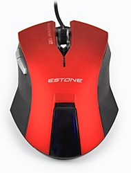 Estone E-8100 Professional Mice 6 Buttons Gaming Mouse 2400DPI LED Optical USB Wired Computer Mouse Cable Mouse Gamer