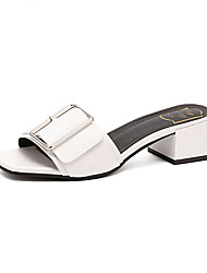 Women's Slippers & Flip-Flops Summer Slingback PU Casual Chunky Heel Others Black Yellow White Others