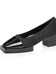 Homme-Décontracté-Noir / Blanc-Gros Talon-Others-Chaussures à Talons-Cuir