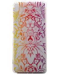 Pour sony xperia xa casquette palais de fleurs motif peint matériel tpu matériel téléphone