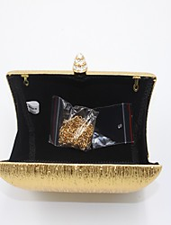 Women-Formal-leatherette-Evening Bag-Gold / Brown / Silver / Black