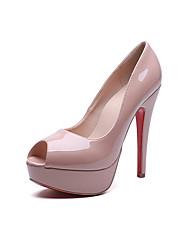 Damen-High Heels-Kleid / Lässig-PU-Stöckelabsatz-Others / Komfort-Schwarz / Rosa