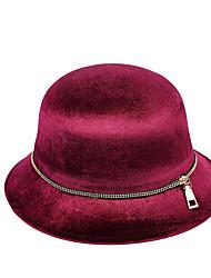 Women Lamb Fur Bucket Hat,Casual Fall / Winter