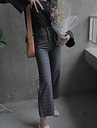 signer 2016 nouveaux hiver plaid laine pantalon jambe large