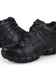 Men's Boots Comfort Cowhide Casual Black Coffee
