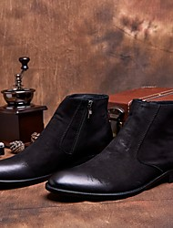 Men's Boots Comfort Leather Casual Black / Coffee