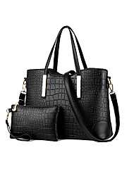 M.Plus® Women's Fashion Crocodile PU Leather Messenger Shoulder Bag/Tote
