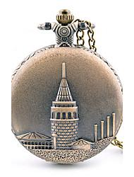 Hombre Reloj de Bolsillo Esfera Grande / Cuarzo Aleación Banda Casual Marrón