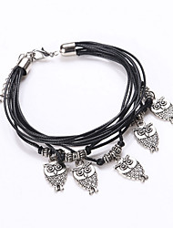 Men's Women's Charm Bracelet Wrap Bracelet Loom Bracelet Leather Alloy Fashion Jewelry 1pc