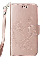 Full Body Heart Embossed Leather Wallet for Motorola G4 G4 Plus