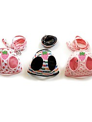 Sweety Strawberry/Heart/Bear Pattern Harness with 120cm Leash for Pets Dogs(Assorted Sizes and Colours)