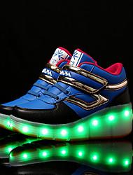Para Meninos-Tênis-Conforto Light Up Shoes-Rasteiro-Azul Verde Rosa Preto e Vermelho Preto e Branco-Sintético-Casual