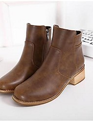 Women's Boots Comfort PU Casual Black / Brown