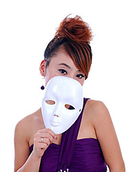 Masquerade Props Beauty Mask White Mask Hip-Hop Hand-Painted Mask Can Be Graffiti 40g