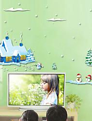 Noël Stickers muraux Stickers avion Stickers muraux décoratifs,pvc Matériel Amovible Décoration d'intérieur Wall Decal