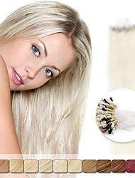 neitsi 20 '' 50g ligações de loop micro anel retas extensões de cabelo 1g 100% cabelo humano / s Remy