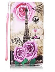 Pour Portefeuille / Porte Carte / Avec Support / Clapet / Motif Coque Coque Intégrale Coque Tour Eiffel Dur Cuir PU pour AsusAsus ZenFone