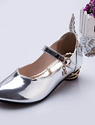 Girl's Heels Spring / Fall Others Patent Leather Casual Chunky Heel Sequin Silver / Gold Others