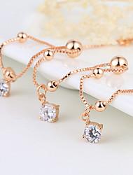 Femme Bracelet de cheville/Bracelet Argent sterling Simple Style Mode Bijoux de Luxe Bijoux Pour Quotidien