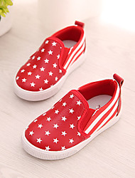 Girl's Loafers & Slip-Ons Fall Comfort Leather Casual Flat Heel Others Black Yellow Red White Others