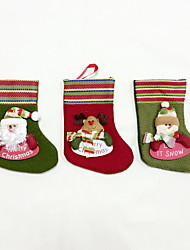 High Quality S Size Textile Christmas Stocking