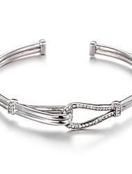 Pulseiras Bracelete Aço Inoxidável Aniversário / Noivado / Casamento / Festa / Diário / Casual Jóias Dom Prateado,1peça