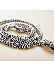 Ожерелье Без камня Ожерелья с подвесками Бижутерия Повседневные / Спорт Хип-хоп / Euramerican Стерлинговое серебро Мужчины 1шт Подарок
