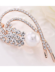 Women's Brooches Pearl Fashion Gold Gold/White Jewelry Wedding Party