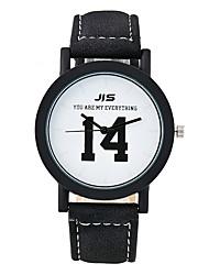 XU Women Fashion Text Retro Couple USES Belt Watch
