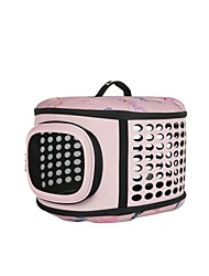 Dog Carrier & Travel Backpack Pet Carrier Foldable Pink / Gray Plastic