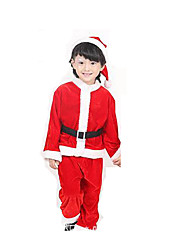 Cosplay Costumes Festival/Holiday Halloween Costumes Red Solid Leotard/Onesie / Skirt / More Accessories Christmas Kid