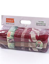 3pcs 100% serviette de bain en bambou (3 serviette de bain) doux et absorbant avec le sac de pva