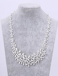 Jewelry 1 Necklace 1 Pair of Earrings Crystal Wedding Party Daily 1set Women Silver Wedding Gifts