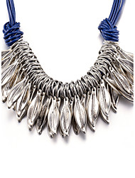 xu Women's Fashionable Tassel Leaves Necklace