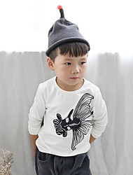 Boy Casual/Daily Embroidered Blouse,Cotton Fall Long Sleeve