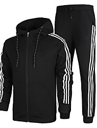 Men's Tracksuit Long Sleeves Thermal / Warm Soft Comfortable Hoodie Jacket Pants / Trousers Clothing Suits Top for Running/Jogging