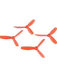 Hélices RC Quadrirotor Orange Plastique 4PCS