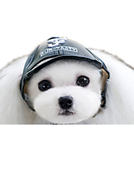 Cães Bandanas e Chapéus Preto Roupas para Cães Inverno / Primavera/Outono Carta e Número Casual