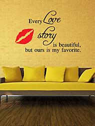 Romance Stickers muraux Stickers avion Stickers muraux décoratifs,Vinyle Matériel Amovible Décoration d'intérieur Wall Decal