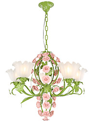 40W Chandelier ,  Vintage Painting Feature for Designers Metal Living Room / Bedroom / Kitchen / Study Room/Office / Kids Room