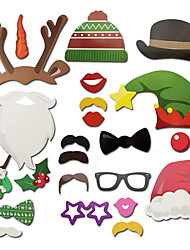 21 PCS /Set Hard Card Paper Non-personalized Photo Props for Christmas Party Supply