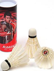 Badminton volantes de penas volantes Elasticidade Alta Durabilidade para Interior Ao ar Livre Espetáculo Praticar Esportes de LazerPenas