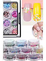 12pcs/set 24g Nail Art Decoration Rhinestone Pearls Makeup Cosmetic Nail Art Design